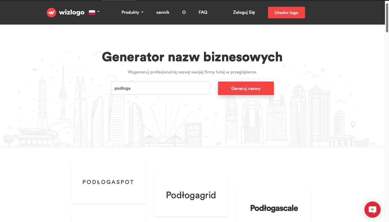 generator nazw biznesowych